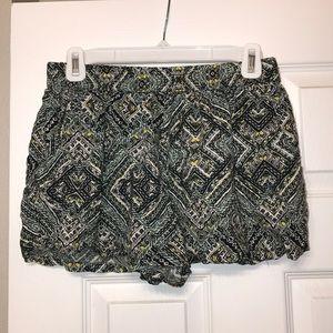 Cotton Tribal Print Shorts